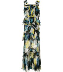alice mccall wild gown floral-print tiered chiffon maxi dress -
