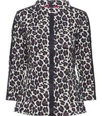 blouse-top, worked w blus långärmad multi/mönstrad gerry weber