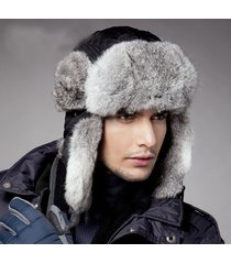 extra-thick plush men winter trapper trooper hunting russian ushanka earflap hat