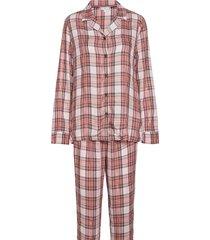 full woven set holiday pyjama rood tommy hilfiger