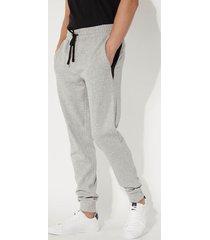 pantalone lungo in felpa con inserti