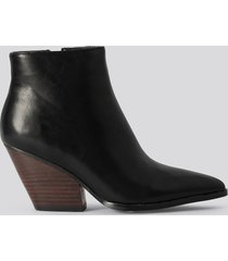 na-kd shoes western heel pointy boots - black