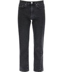 totême twisted cropped jeans