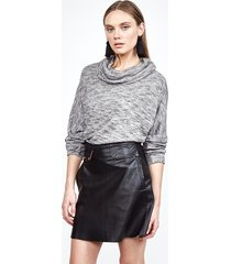 ranch turtleneck pullover - l taupe