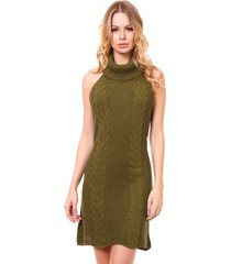 vestido frente única beautifull hit verde militar