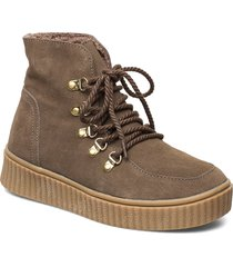 boot shoes boots ankle boots ankle boot - flat brun sofie schnoor