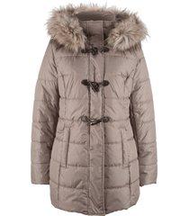 giacca imbottita con cappuccio e alamari (marrone) - bpc bonprix collection