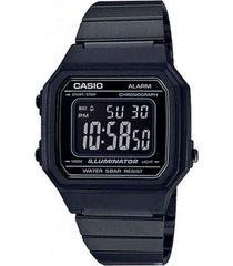 reloj casio b650wb_1b negro acero inoxidable