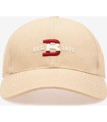 bally logo baseball cap grey 58