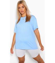 plus basic crew neck t-shirt, light blue