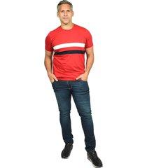 camiseta cuello redondo smith rojo malboro para hombre