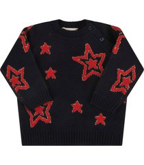 gucci blue sweater with stars for baby girl