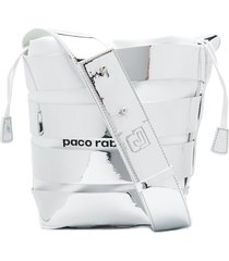 paco rabanne strappy bucket bag - silver