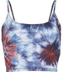 onzie women's belle cami yoga crop top - 4th tie dye spandex