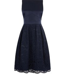 kanten midi-jurk darcy met satijnen lijfje
