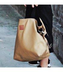 duża torba shopperka mili duo - złota