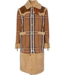 burberry house check convertible coat - brown