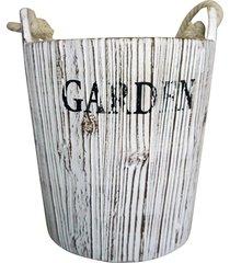 vaso  balde concreto 16x15cm kasa ideia - branco - dafiti