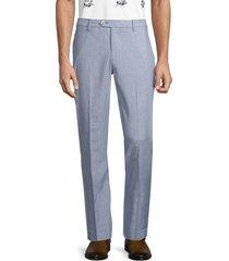 bonobos men's slim-fit linen-blend trousers - blue - size 33 30