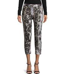 printed linen capri pants