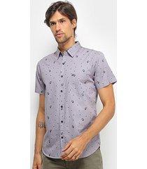 camisa hd miniprint masculina