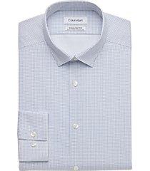 calvin klein infinite non-iron slate blue dot slim fit dress shirt