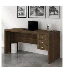 mesa para escritório tecno mobili me4113 3 gavetas