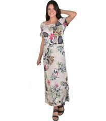 vestido floreado multicolor alexandra cid