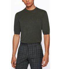 boss men's short-sleeved sweater