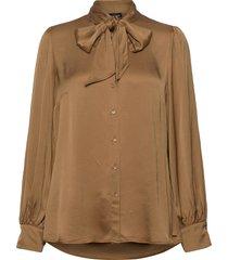 blouse long-sleeve blus långärmad brun taifun