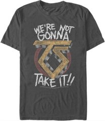 fifth sun twisted sister men's we're not gonna take it text logo short sleeve t-shirt