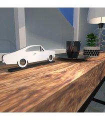 escultura de mesa opala carro antigo branco único