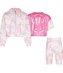river island pink 'rvr' 3 piece scuba outfit