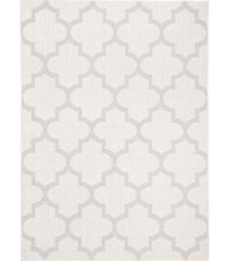 "safavieh bermuda ivory and light gray 5'3"" x 7'6"" sisal weave area rug"