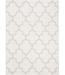 "safavieh bermuda ivory and light gray 5'3"" x 7'6"" sisal weave rug"