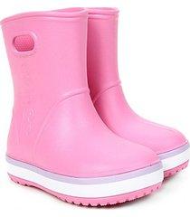 bota crocs infantil crocband rain boot k - masculino