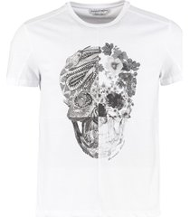 alexander mcqueen cotton t-shirt with skull print
