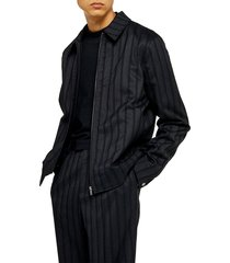 men's topman herringbone zip jacket