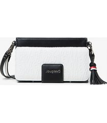 clutch-wallet 2-in-1 with raised letters - white - u