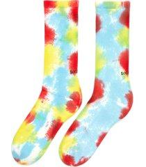 tie-dye' rib cuff tennis socks