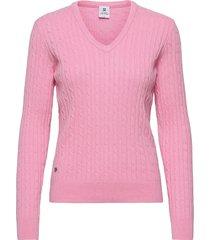 madelene pullover stickad tröja rosa daily sports