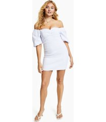 guess charlotte off-the-shoulder mini dress