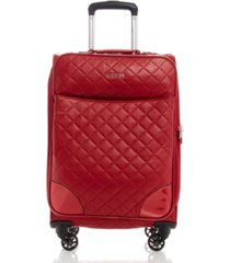 "guess fashion travel horton 20"" softside carry-on spinner"