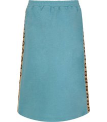 gucci light blue girl skirt with double gg