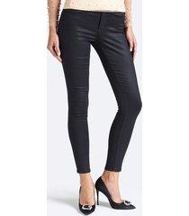jeansy z efektem powlekania fason skinny