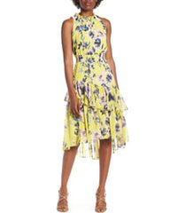 women's eliza j floral asymmetric tiered dress