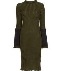 bottega veneta knitted cashmere midi dress - green