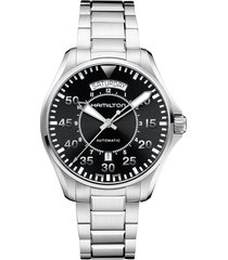 hamilton khaki aviation automatic bracelet watch, 42mm