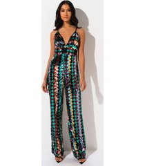 akira all that sequin wide leg jumpsuit