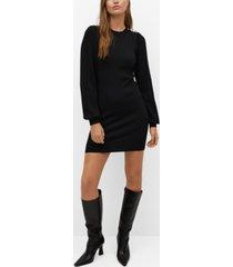 mango women's button knit dress